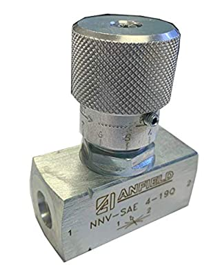 """Anfield 1/4"""" SAE Bi-Directional Flow Control Needle Valve by Anfield Industries"""