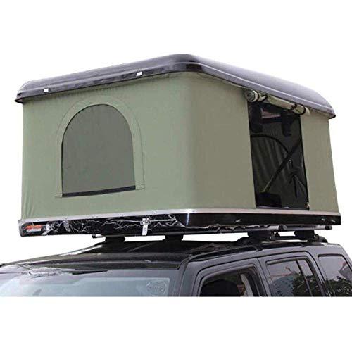 LLSS Autodachzelt Autodachzelt Hartschalen-Autodachzelt, mit Klappleiter aus Aluminiumlegierung, grünem Zelt + schwarzer Schale