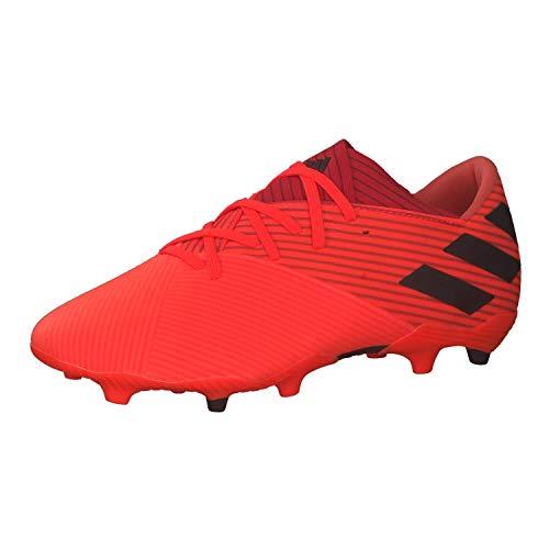adidas Nemeziz 19.2 FG, Chaussure de Football Homme, Rose Noir Rouge (Corsen Negbás Rojglo), 46 EU