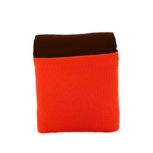 JRXyDfxn Picknick-Matte Nylon tragbare wasserdichte Camping Decken Faltbare Hitzebeständige Outdoor-Taschendecke Small Size Red