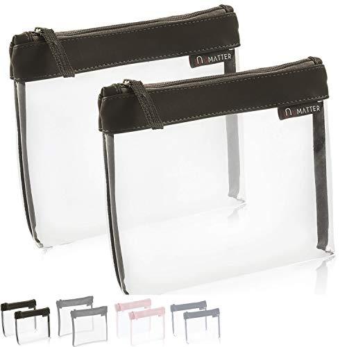 umatter ® Neceser transparente para avión, bolsa de aseo para líquidos en el equipaje de mano, bolsa de aseo transparente, 1 litro, bolsa de viaje