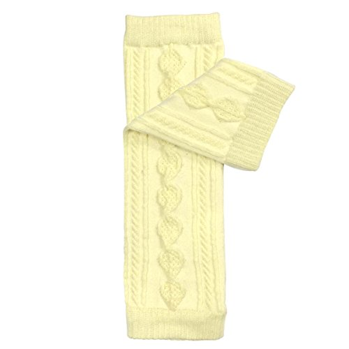 Bowbear Baby Polka Dot and Solid Color Leg Warmers, O/S, Argyle Yellow