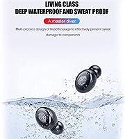 RTUTUR ブルートゥースV5.0ワイヤレスデュアルインナーイヤーIPX7防水スポーツイヤホン - 2400mAhの (色 : 4000mAh)