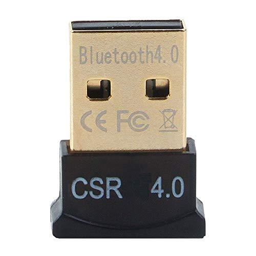 GENERIC Ultra-Mini Bluetooth CSR 4.0 USB Dongle Adapter for Windows Computer (Black:Golden)