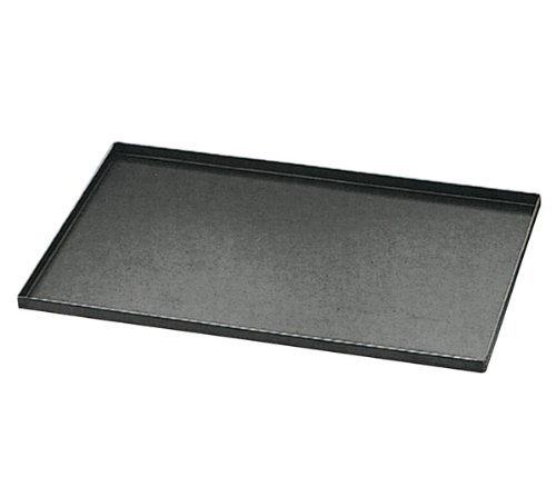 Matfer Bourgeat 455001 Plaque de cuisson en acier bleu avec bords droits Carbone Noir