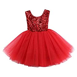 Red02 Tulle Tutu Baby Dress With Sequins