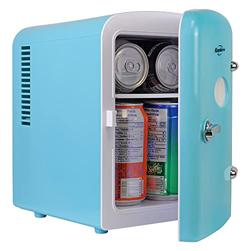 Koolatron KRT04-G Retro Personal Cooler 4 Liter/6 Can AC/DC Portable Mini Fridge, Thermoelectric...
