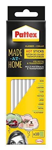 Pattex Made at Home Hot Sticks / Heißklebesticks zum Nachfüllen von Pattex Heißklebepistolen / 1 Packung (200 g) mit 10 Pattex Hot Sticks, Ø 11 mm