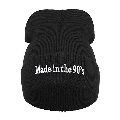 DDMCAP Beanie Mütze Beanies Black Cap Damen Unisex Outdoor Hip Hop Skullies Mädchen Winter Stickerei Buchstaben Strickmütze