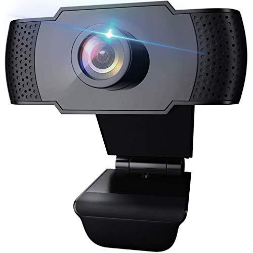 TANTAO Webcam 1080P mit Mikrofon, PC Laptop Desktop USB 2.0 Webkamera für Videoanrufe, Studieren, Konferenzen