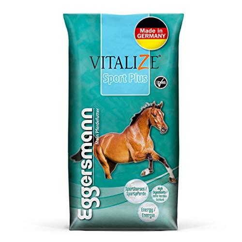 Eggersmann Vitalize Sport Plus – Pferdefutter für Sportpferde – Für stark Beanspruchte Pferde geeignet – 20 kg Sack