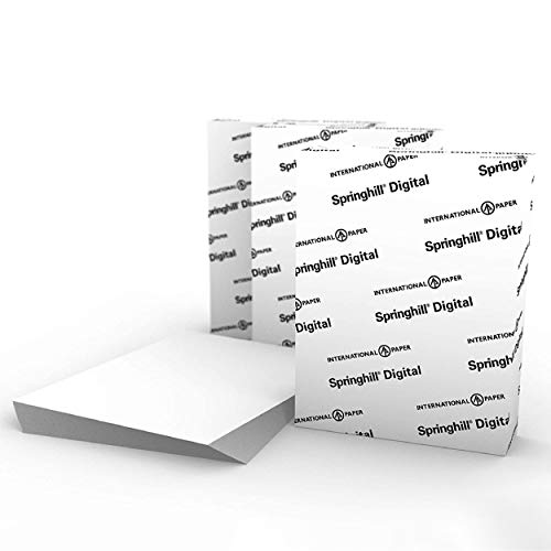 """Springhill White 8.5"""" x 11"""" Cardstock Paper, 110lb, 199gsm, 2,000 Sheets (3 Reams) – Premium Heavy Cardstock, Printer Paper with Smooth Finish for Greeting Cards, Flyers, Scrapbooking & More – 015303C"""