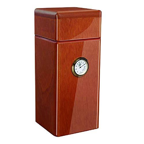 Special Edition 16 Cigar Authentic Vertical Design (Spanish Cedar) Desktop Humidor Made in North America (Cedar Gloss)