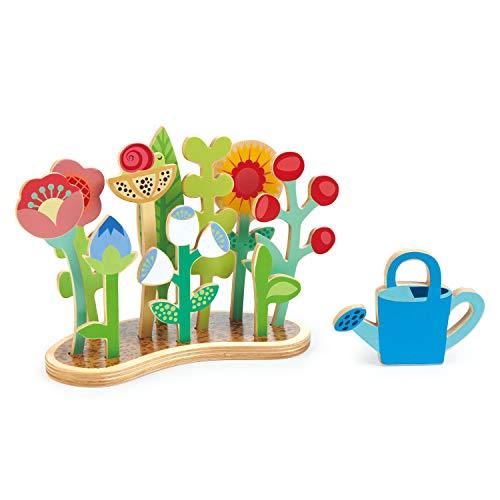 Tender Leaf Toys - Blumenbeet – Indoor-Garten Pretend Play Holzspielzeug mit Blumen und Laub – pädagogische, kreative und grundlegende Lebenslernfähigkeiten Spaß für Kinder ab 3 Jahren