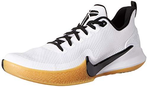 Nike Men's Kobe Mamba Focus Basketball Shoe (8 M US, White/Black/Gum Light Brown)