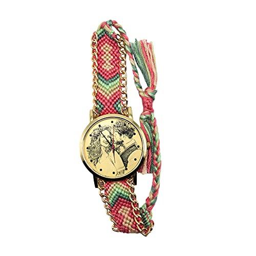 Reloj Personalizado con Imagen De Banda, Reloj De Pareja, Reloj De Aleación, Reloj Tejido A Mano Personalizado, Reloj De Pulsera, Regalo De Cumpleaños De Aniversario