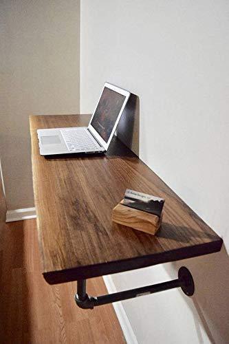 Escritorio flotante. Se hace con madera de dos pulgadas de primera entintada a mano (ver opciones de…