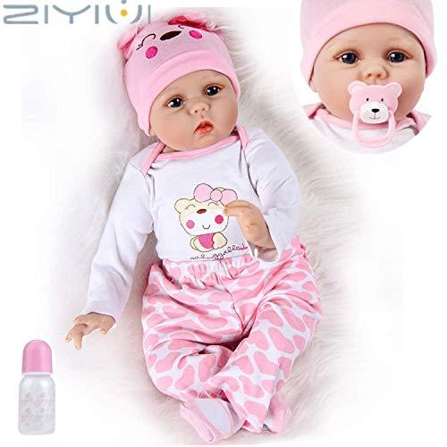 ZIYIUI Realistica 55 cm Bambole Reborn Bambina Bambola Reborn Femmina Bambolotti di Silicone Reborn Babys Dolls Ragazza Bambini Giocattoli 22 Pollice