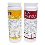 Urnex Brands Grindz Kaffeemühlen-Reiniger Granulat & Urnex Brands 12-ESP20 Cafiza Espressomaschinenreiniger Kaffeefettlöser im Doppelpack