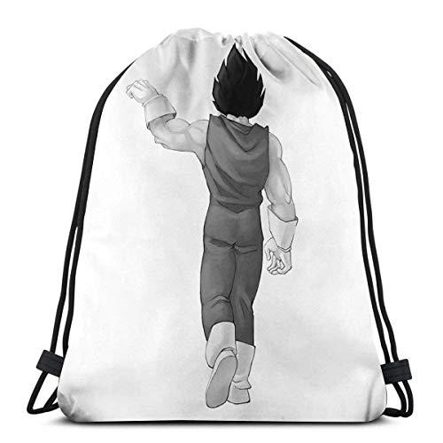 CherishU Unisex drawstring backpack Vegeta And Goku Drago-n Bal-l Outdoor light drawstring bag, gift bag