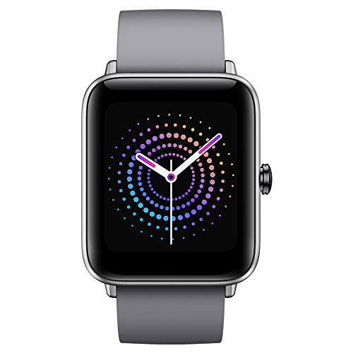 Ulefone Watch PRO - 40 Giorni Durata della Batteria, Smartwatch Impermeabile 5ATM, Schermo Retina 1,55', Cardiofrequenzimetro Fitness Tracker, Monitor Dell'Ossigeno nel Sangue(SpO2) Smartband Grigio