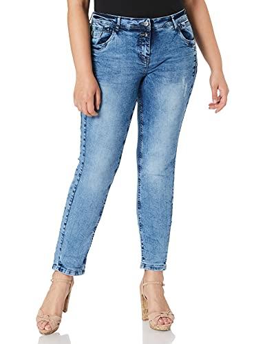 Cecil Damen 373788 Style Scarlett Loose Fit Jeans, Light Blue Wash, 30W / 30L