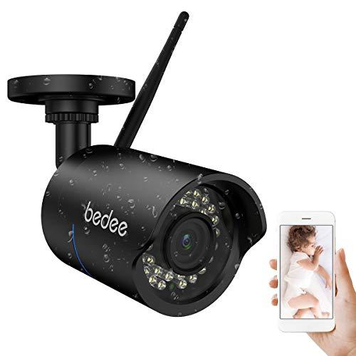 bedee ip überwachungskamera WLAN IP Kamera 1080P HD Überwachungskamera Sicherheitskamera IP66 Unterstützt Handy/PC IR Nachtsicht Bewegungserkennung Email 128G Aufnahme 300MM Cable Wasserdicht Außen