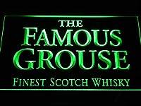 The Famous Grouse Whisky LED看板 ネオンサイン ライト 電飾 広告用標識 W30cm x H20cm グリーン