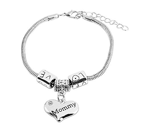 Vriendschap - moeder - armband - familie - motiverend - hart - hanger - man - vrouw - unisex - zilveren kleur - sieraden love mommy