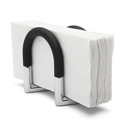 Umbra 330705-047 Squeeze Porta Tovaglioli, Nero/Nickel
