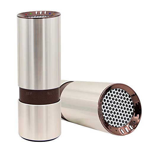 BENEWEAR Car Air Purifier HEPA Ionizer Freshener Aromatherapy Fragrant Oil Vaporizer Humidifier with Indicator Lights - Best for Small Rooms and Cars