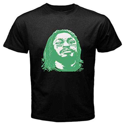 New Beast Mode Marshawn Lynch Football Seattle Rb Men's Black T-Shirt Size S-3XL,Black,3XL