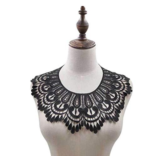 Witte kanten stoffen jurk stoffen motief blouse naaien versieringen DIY hals kraag kostuum decoratie accessoires, 13