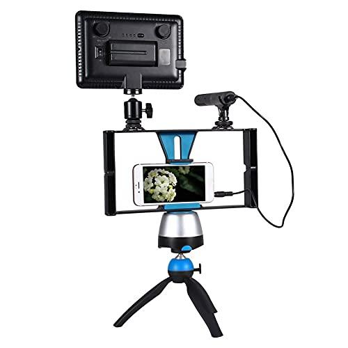 Bindpo Handy Video Rig, Handheld Stabilizer Grip Filmmaking Cage mit 1/4 Gewindeloch & Schuhhalterung für Stativ, Mikrofon, LED-Licht