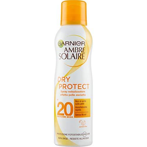 Garnier Ambre Solaire Crema Protezione Solare Dry Protect, Spray Nebulizzatore Protettivo Effetto Pelle Asciutta, IP20, 200 ml, Confezione da 1