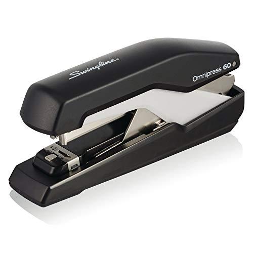 """Swingline Stapler, Omnipress 60 Stapler,""""Press Anywhere for Easier Use"""", 60 Sheet Capacity, Black/Gray (5000590A)"""