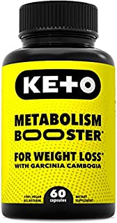 Advanced Metabolism Booster and Carb Blocker - Keto Diet Pills for Weight Loss with Raspberry Ketones and Pure Garcinia Ca...