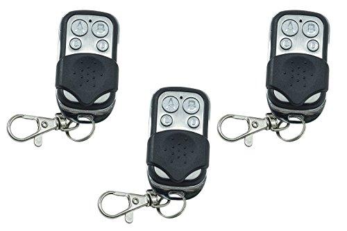 Conjunto de 3 mandos a distancia universales, código fijo, con frecuencia de 433,92 MHz, para portón automático