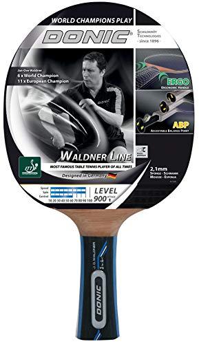 Donic-Schildkröt Tischtennis Schläger Waldner 900 mit ABP Technologie und Ergo Griff Tischtennisschläger, schwarz/Rot/Braun, One Size
