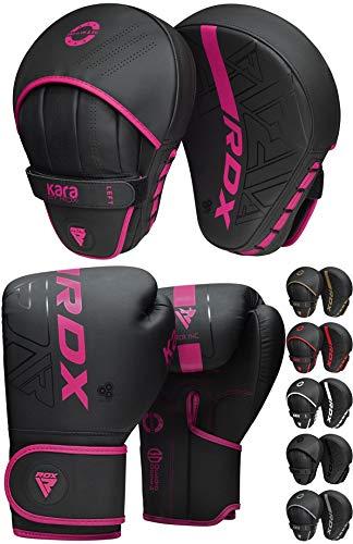 RDX Manoplas de Boxeo Paos Muay Thai Guantes Saco MMA Kick Boxing Almohadilla Artes Marciales Krav Maga Escudo Patada Gancho y Jab Pad Entrenamiento Focus Pads