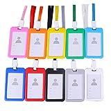 Funda Para Tarjetas De Identificación Vertical, Senteen 20pcs Porta Tarjetas Identificativas Colgante Multicolor Soporte De Tarjeta Id...