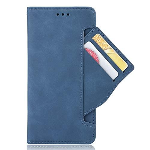 HHF-1 1fortunate Cajas del teléfono para Xiaomi Black Shark 3, Tarjeta de Billetera Slot de Cuero extraíble 360 Protection Flip Cover para BlackShark 3 Negro Shark3 (Color : Azul)