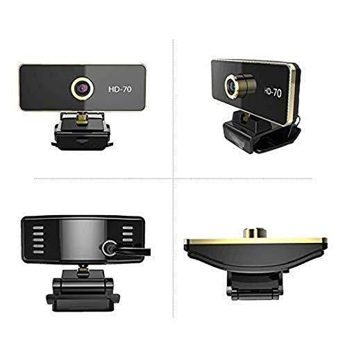 Wdonddonsxt Webcam HD Webcam con micrófono Incorporado, grabación de vídeo Conferencia/Reunión enseñanza en línea/Business Desktop Compatible o portátil portátil Webcam Conveniente for el hogar, e