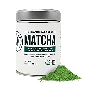 Organic Ceremonial Grade Matcha - suited for traditional Matcha Tea preparation where Matcha is simply whisked with hot water 100% USDA Organic Matcha Green Tea Powder, All Natural, Nothing Added (naturally gluten free and vegan) Authentic Japanese O...