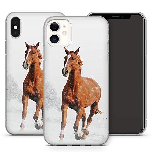 Handyhülle Pferd für iPhone Apple Silikon MMM Berlin Hülle Pferde Natur Horse Reiten Pony Einhorn, Kompatibel mit Handy:Apple iPhone 5 / 5S / SE, Hüllendesign:Design 3 | Silikon Klar