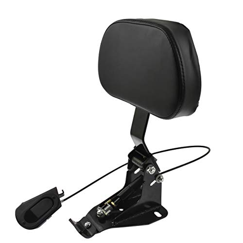 HDBUBALUS Adjustable Driver Backrest with Mount Fit for Harley Touring Road King Electra Glide CVO 2009-2020