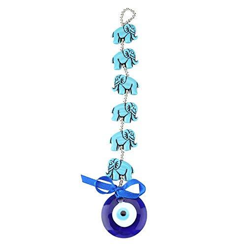Hztyyier Turco Azul Perlas Mal de Ojo Adorno de Elefante Amuleto Delic