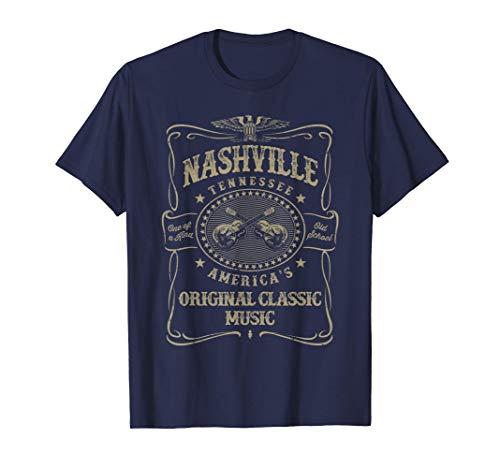 Nashville Music City Estados Unidos Vintage Camiseta