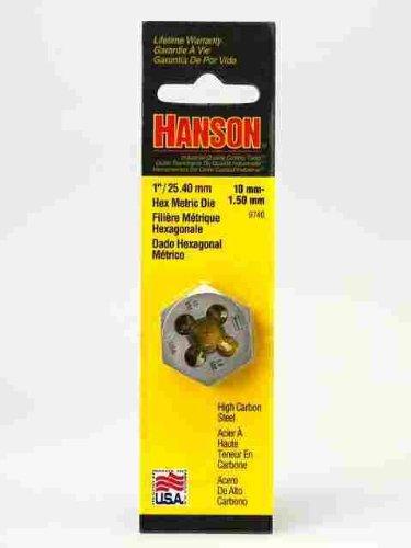 Irwin Hanson 9740 Gewindeschneider, Sechskant, 2,5 cm, 10 mm-1,5 mm