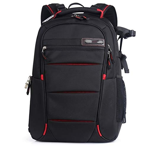 Kamerarucksack, Kameratasche Wasserdicht Stoßfest Mit Gepolsterten Spezialeinteilungen Fotorucksack für Objektive, Laptop, Stativhalter und DSLR-Kameras und Foto Zubehör, rot, m012jc ( Color : Red )